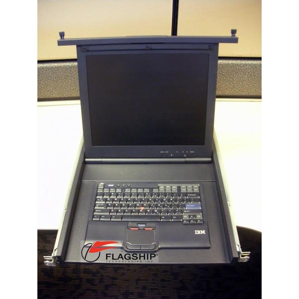 "IBM 7316-TF3 Flat Panel Console Kit Rackmount 17"" TFT LCD & Travel PS/2 Keyboard"