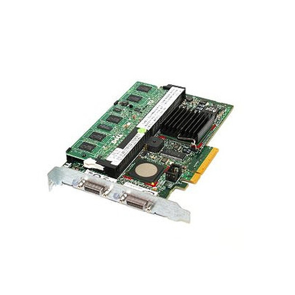 Dell PERC 5/E SAS PCi-E Raid Controller for PowerVault MD1000 Arrays GP297