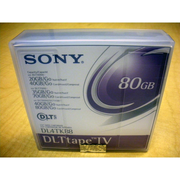 Sony DL4TK88 DLTtape IV 80GB DLT Tape Cartridge