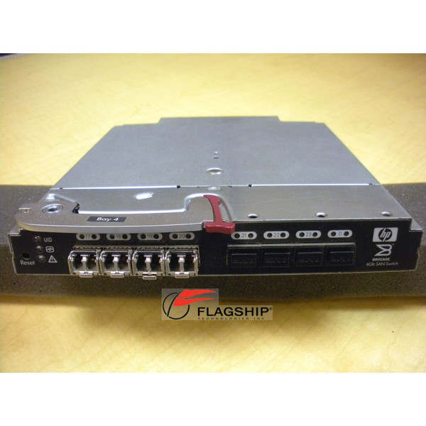 HP AE371A 411122-001 BLc Brocade 4/24 4Gb FC SAN Switch PP (passwords cleared)