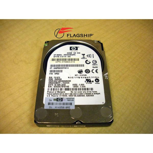HP 375863-015 300 GB 10K SAS 2.5 6G DP HD - NO