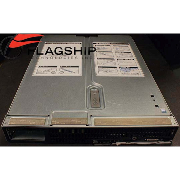 AD323A #002 HP BL860c Server 2x 1.4GHz 12MB cache Dual Core CPU top straight on