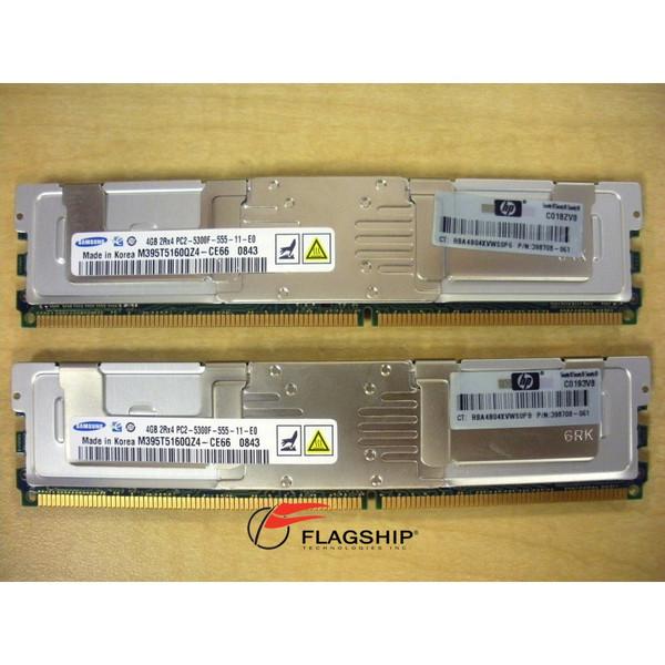 HP 397415-B21 8GB (2x 4GB) DDR2 PC2-5300 FBD Memory Kit 398708-061