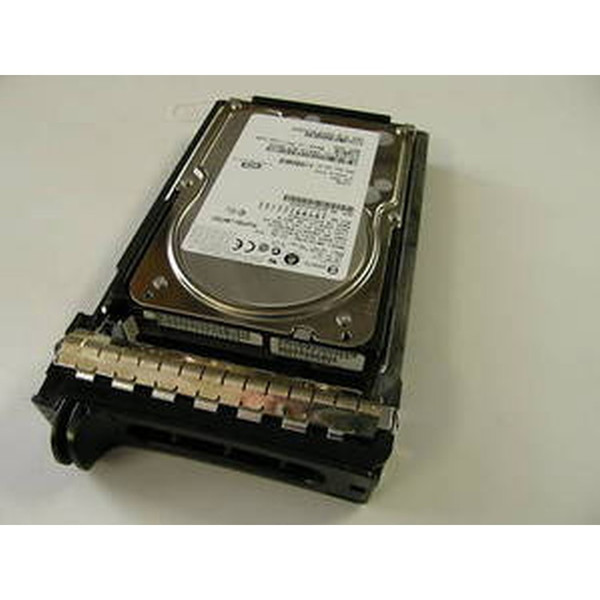 146GB 10K U320 80PIN SCSI Hard Drive & Tray Dell Fujitsu Y4721 MAT3147NC Photo 1