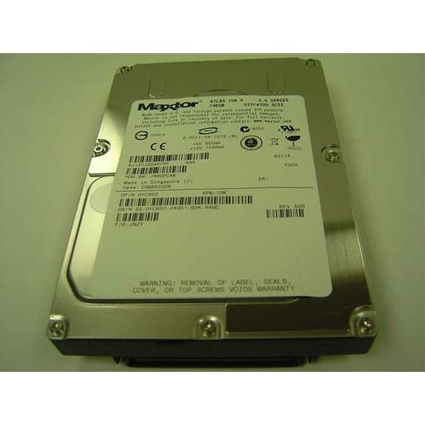 146GB 10K U320 SCSI 80PIN Hard Drive & Tray Dell Maxtor YC952 8J147J0
