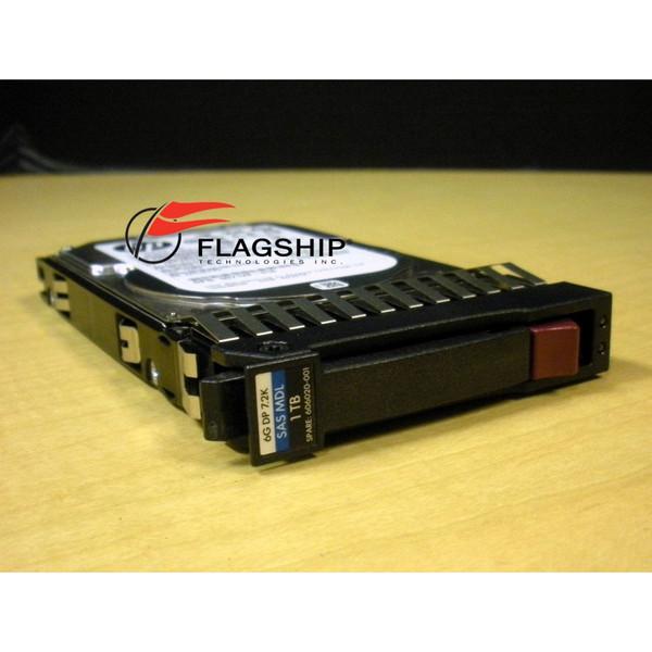 HP 606020-001 605835-B21 1TB 6G SAS 7.2K SFF DP MDL Hard Drive via Flagship Tech
