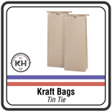 Paper Tin Tie Bags - Festive BLACK
