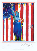 Peter Max United We Stand Limited Edition Hand Signed W/coa