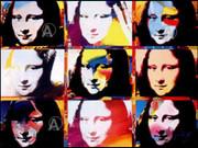 Fab Oversize Peter Max Signed Mona Lisa Portraits W/coa