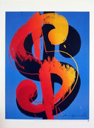 Fabulous Official Andy Warhol Rare Dollar Sign $ Lithograph