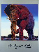 Fabulous Official Authorized Warhol Endangered Wildlife Elephant