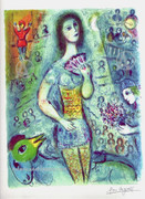 Marc Chagall Circus Dancer Signed Ltd Ed Print W/coa