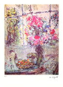 Marc Chagall Flowers & Fruits Signed S/n Litho Le Wcoa
