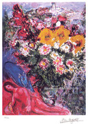 Marc Chagall Rose Nude With Flowers Signed Litho W/coa