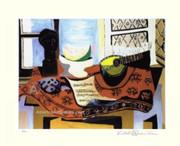 Pablo Picasso Cubist Mandolin Still Life Signed LE Wcoa
