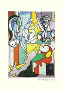 Pablo Picasso Cubist Sculptor At Work Signed L/e W/coa