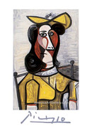 Pablo Picasso Cubist Woman Wearing Hat Signed Litho