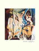 Pablo Picasso Demoiselles Davignon Signed L/e W/ Coa '