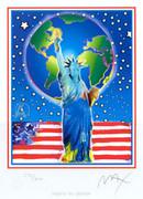 Peter Max Peace On Earth L/e Hand Signed W/coa