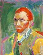 Peter Max Rare Fabulous Dymanic Van Gogh Serigraph