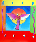 Peter Max Rare Stunning Angel In The Sun Hand Signed Lithograph