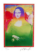 Peter Max Stunning Rare Mona Lisa Hand Signed Print
