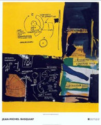Rare Huge Jean michel Basquiat Fine Art Print