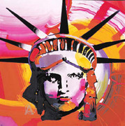 Rare! Peter Max Liberty Head Hand Signed With COA