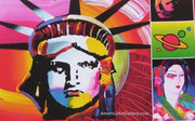 Rare Peter Max Out Of Print Liberty Exibition Poster
