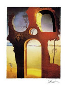 Rare Salvador Dali Invisible Face Signed Ltd Ed W/coa