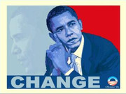 Barack Obama Change Fine Art Print