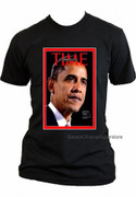 Barack Obama Collectible Historic Time Magazine Cover T-shirt