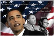 Barack Obama Dr. King & Rosa Parks Fine Art Print