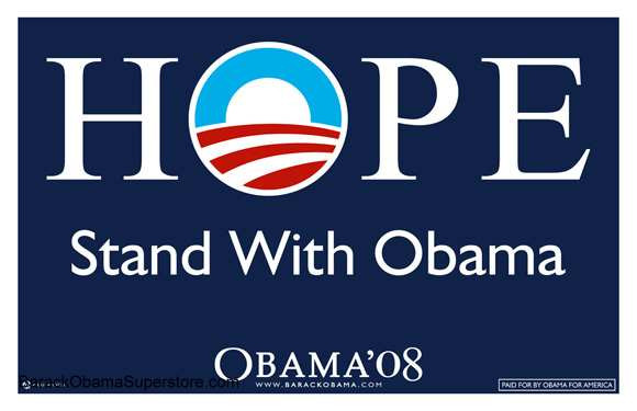 Barack Obama Hope 2008 Campaign PosterObama Campaign Poster Official