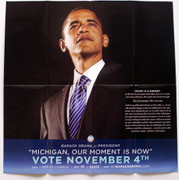 Barack Obama Official Michigan Vote Brochure Poster