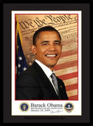 Excellent Custom Framed Barack Obama Inaugural Portrait (sm)