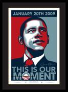 Excellent Framed Barack Obama Inaugural Poster Our Moment(sm)