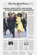 New York Times Obama Cover Inauguration January 21, 2009 Newspap