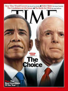 Time Magazine Barack Obama & Mccain Choice Cover Issue 2008