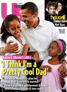 Us Magazine Barack Obama Obamas Girls Cover Issue 2008 '