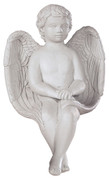 Delightful Sitting Angel Statue Sculpture