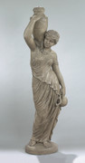 Sensual Grecian Well Woman Sculpture Statue