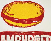 Andy Warhol  Bold Hamburger   c. 1986