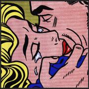 Kiss V (serigraph) - Roy Lichtenstein