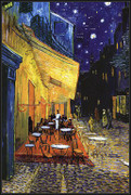 The Cafe Terrace on the Place du Forum, Arles, at Night, c.1888 - Vincent Van Gogh