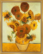 Vase with Fifteen Sunflowers, c.1888 - Vincent Van Gogh