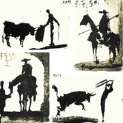 Picasso's Bullfight Set (set of four prints) - Pablo Picasso