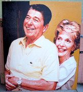 Dynamic Steve Kaufman Ronald & Nancy Reagan
