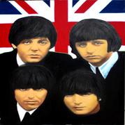 Stunning Steve Kaufman British Fabulous Four