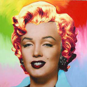 "Dynamic Steve Kaufman Marilyn Monroe Pop ""Multi Skin Tone"""